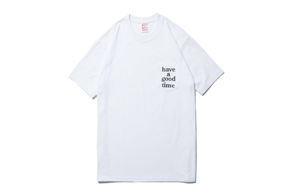 "have a good time ""LOGO POCKET S/S TEE"" (White)"