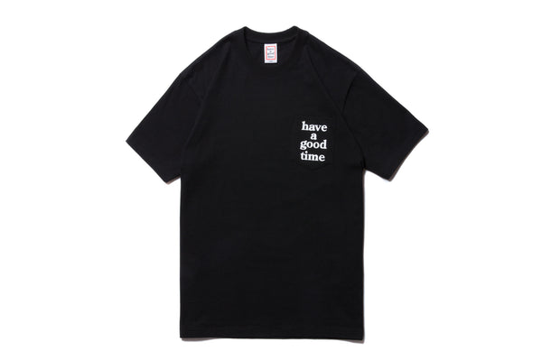 "have a good time ""LOGO POCKET S/S TEE"" (Black)"