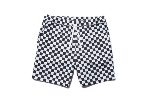"have a good time ""CHECKER BORDER EASY SHORTS"" (Black)"