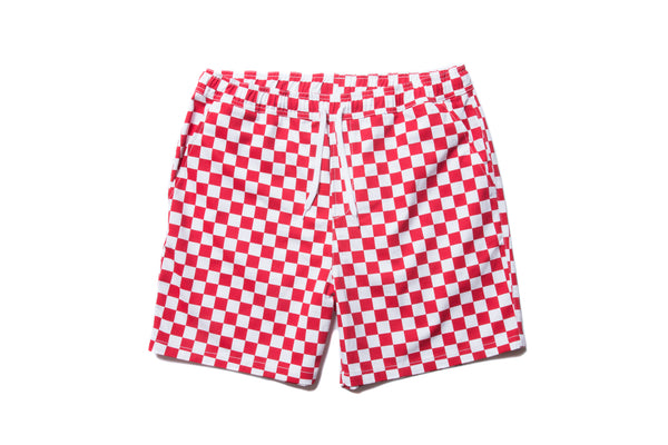 "have a good time ""CHECKER BORDER EASY SHORTS"" (Red)"