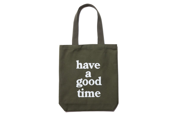 "have a good time ""LOGO TOTE BAG"" (Olive)"