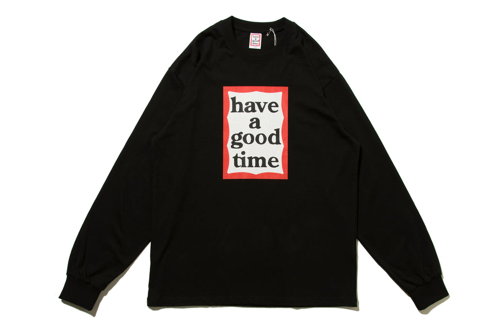 "have a good time ""FRAME L/S TEE"" (Black)"