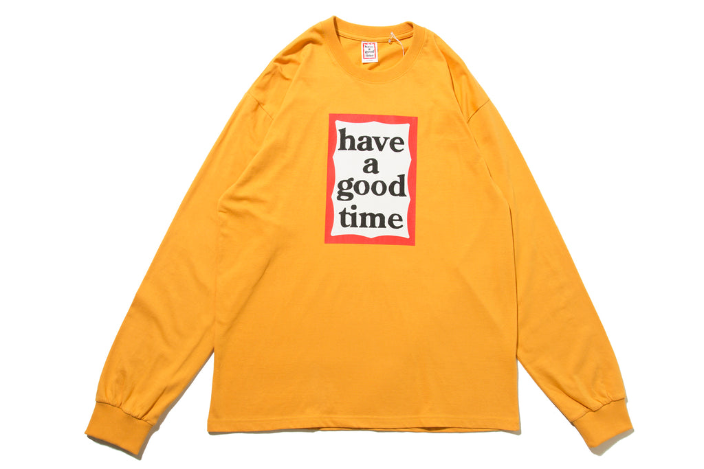 "have a good time ""FRAME L/S TEE"" (Orange)"