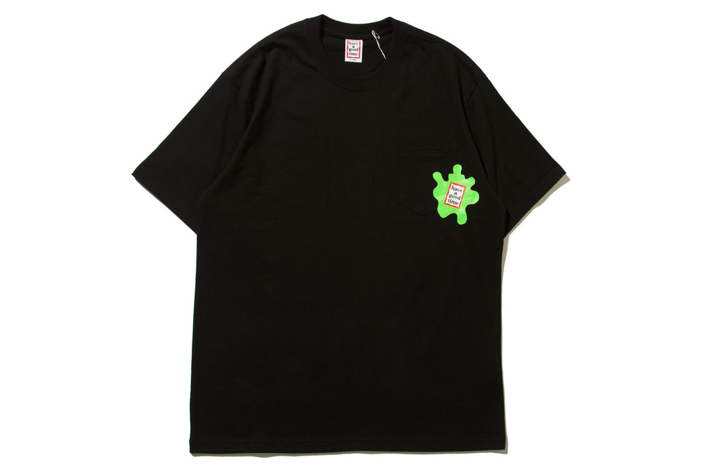 "have a good time ""AMOEBA POCKET S/S TEE"" (Black)"