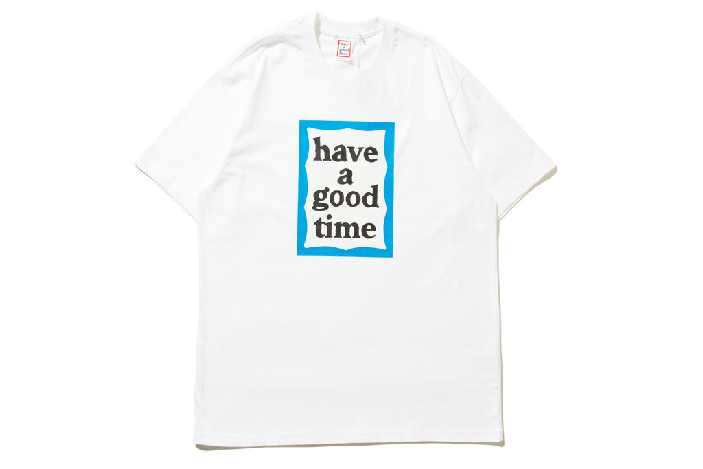 "have a good time ""BLUE FRAME S/S TEE"" (White)"