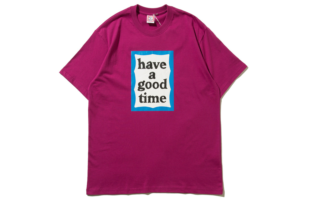 "have a good time ""BLUE FRAME S/S TEE"" (Purple)"