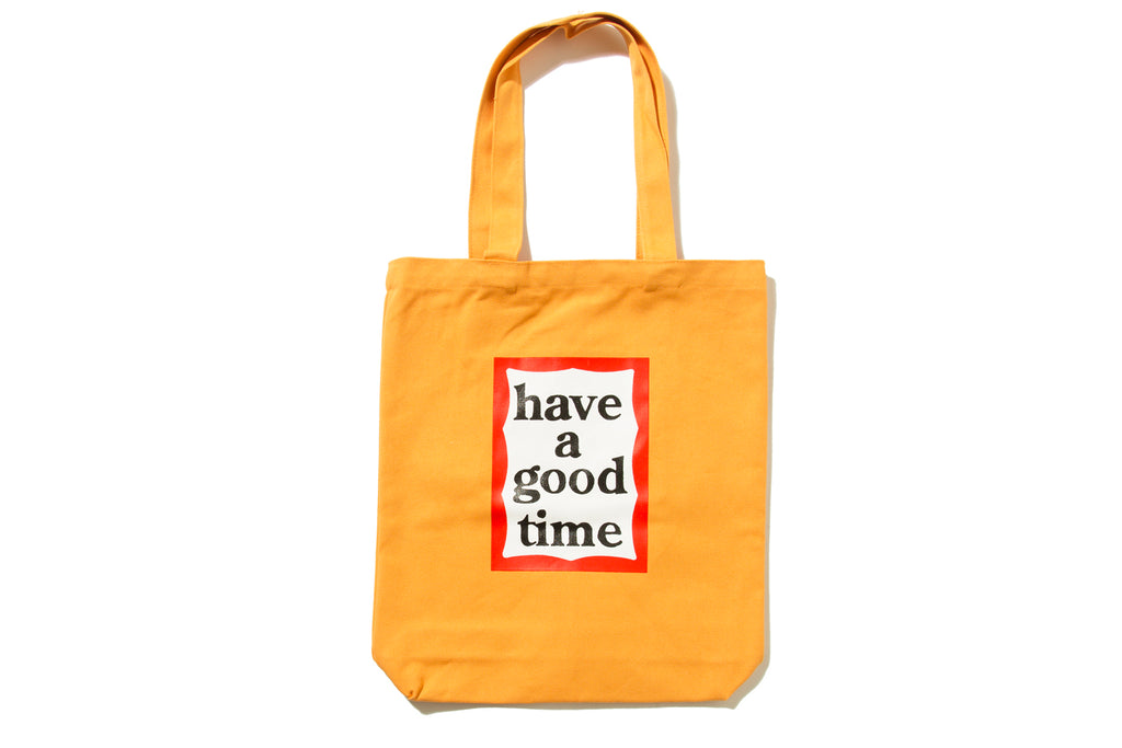 "have a good time ""FRAME TOTE BAG"" (Orange)"