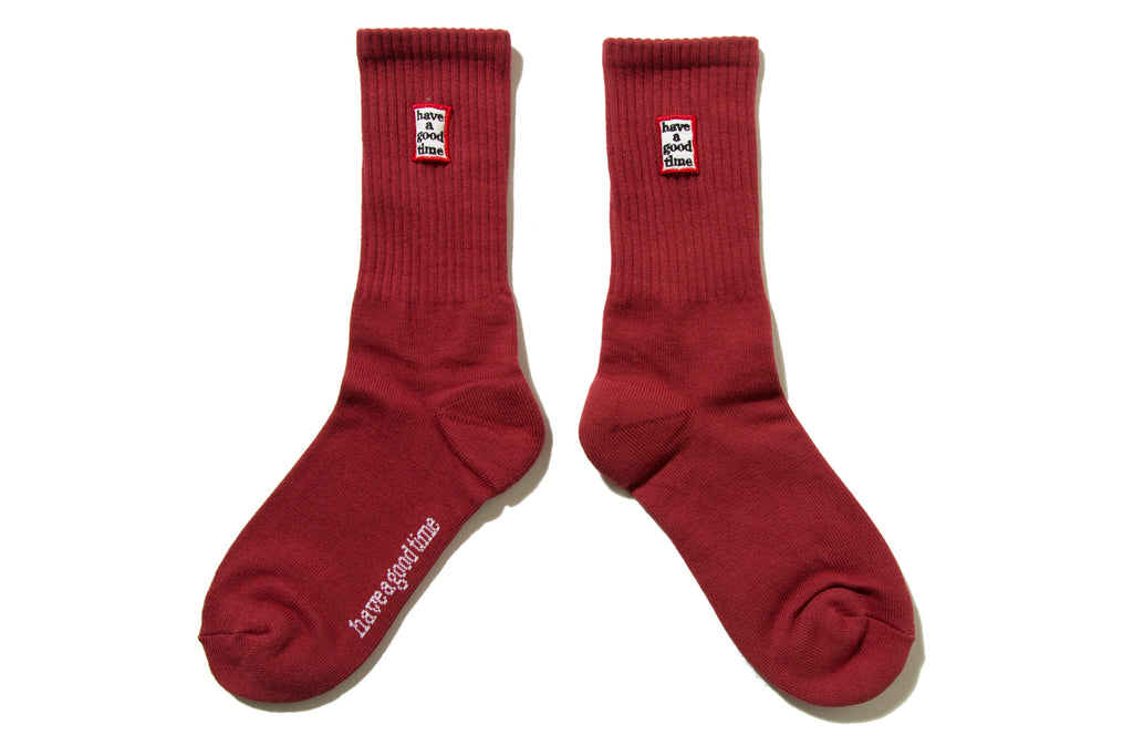 "have a good time ""FRAME SOCKS"" (Maroon)"