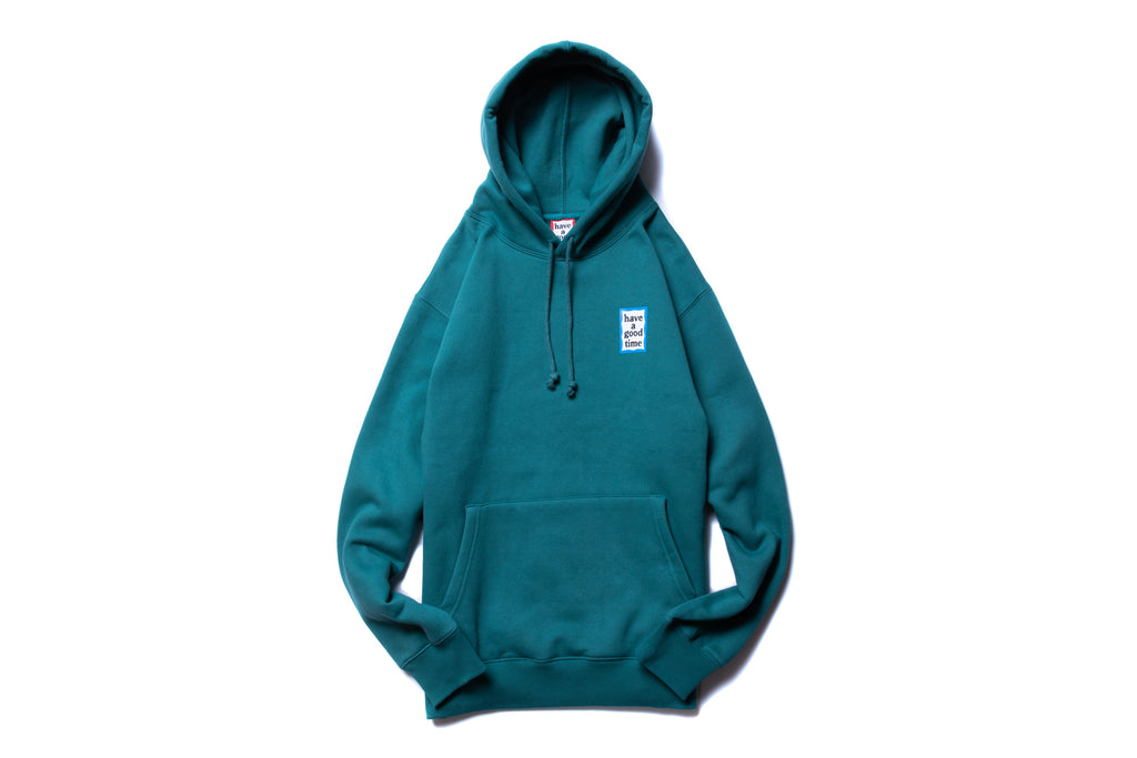 "have a good time ""BLUE MINI FRAME PULLOVER HOODIE"" (Green)"