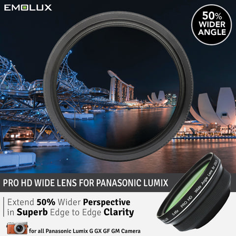 [For Panasonic Lumix G] Emolux PRO HD Scenic 0.45x ULTRA Wide Converter Mirrorless Lens (37mm)