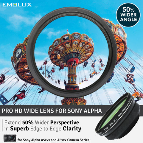 [For Sony Alpha] Emolux PRO HD Scenic 0.45x ULTRA Wide Converter Mirrorless Lens (40.5mm)