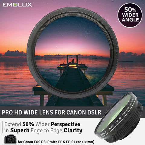 [For Canon DSLR] Emolux PRO HD Scenic 0.45x ULTRA Wide Converter DSLR Lens (58mm)