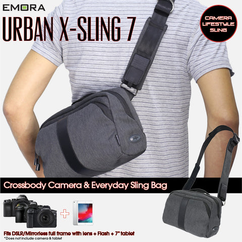 Emora X-Sling 7 Camera and Everyday Sling Bag for Mirrorless and DSLR Camera