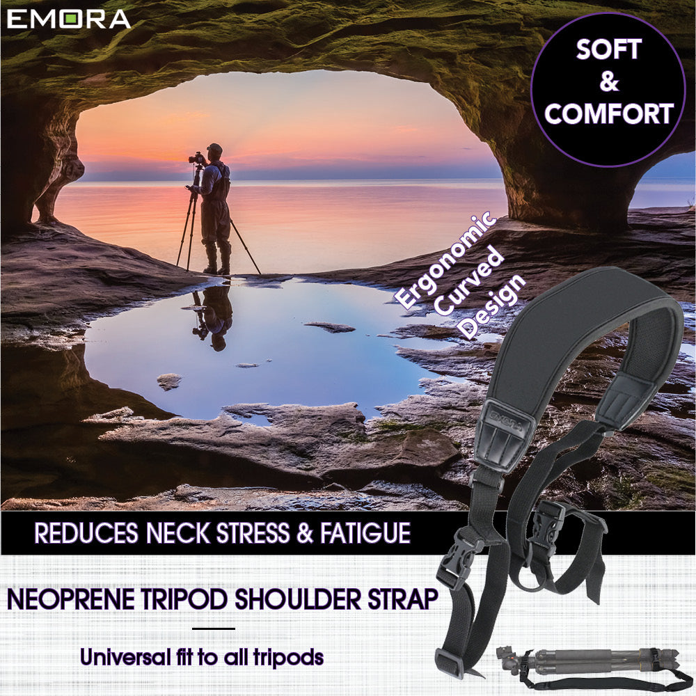 Emora Neoprene Shoulder Strap for Camera Tripod
