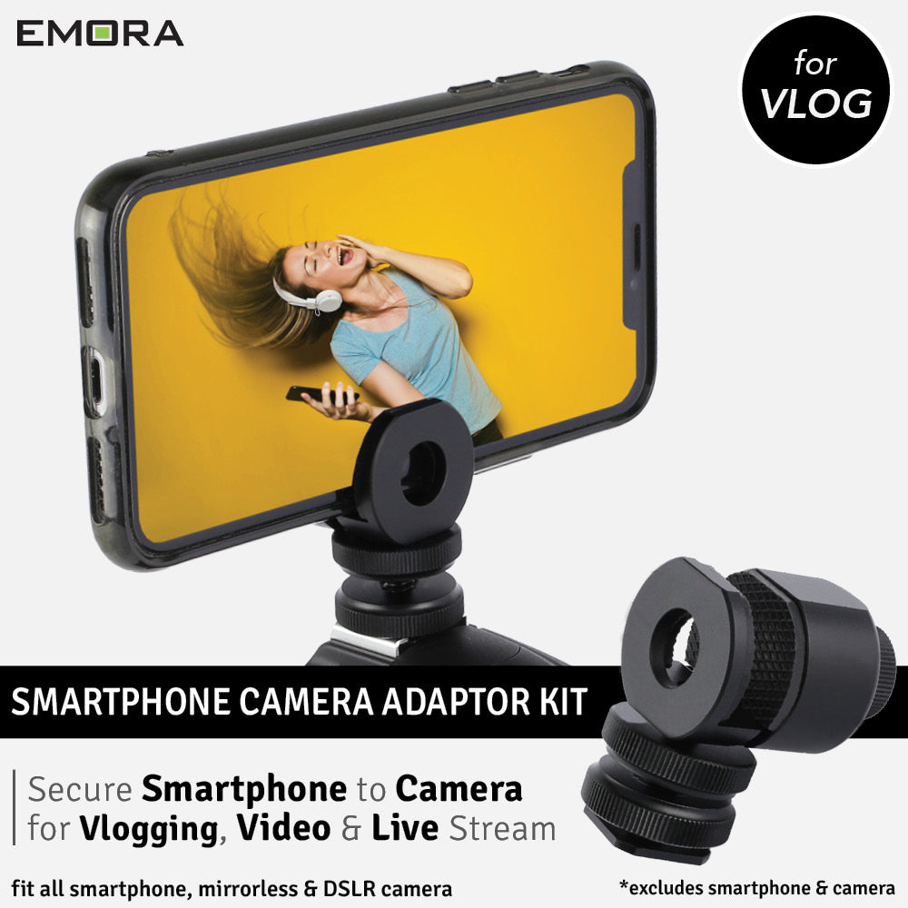 Emora Aluminium Universal Smartphone Camera Mounting Kit for Vlog Live Stream Broadcast