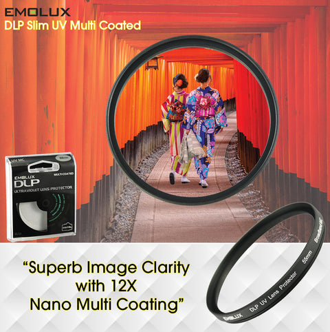 Emolux Digital SLIM Ultraviolet (UV) Multi Coated Camera Lens Filter