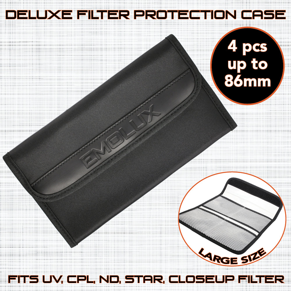 Emolux Deluxe Anti Shock Photo Filter Protection Case L Size fits 4 filters up to 86mm