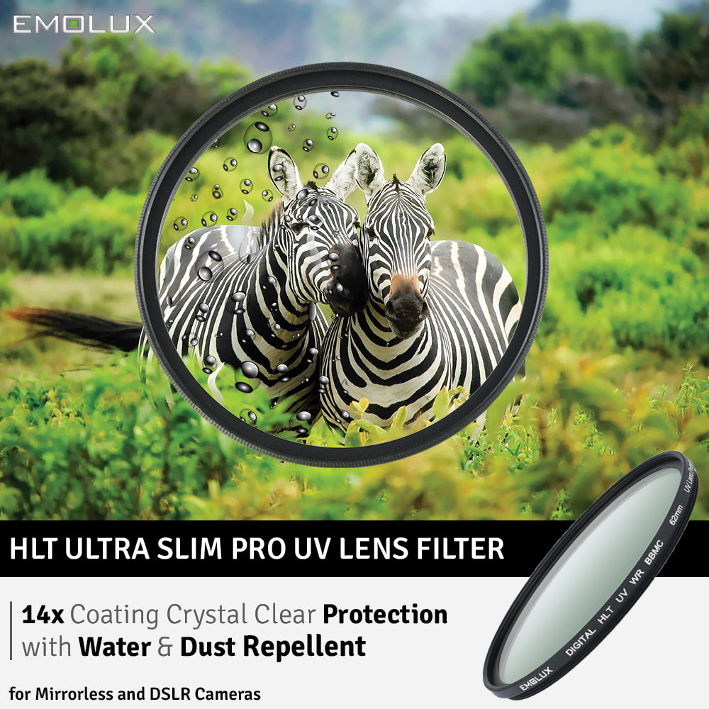 Emolux Digital ULTRA SLIM UV with Water and Oil Repellent MC Glass Filter for Mirrorless and DSLR