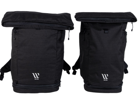 WAYKS Day Pack size comparison Original and Compact front folded
