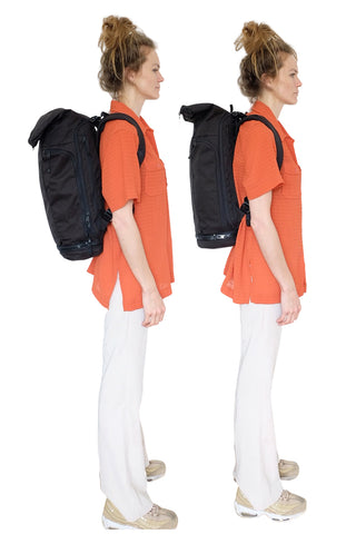WAYKS Day Pack size comparison Original and Compact right side folded