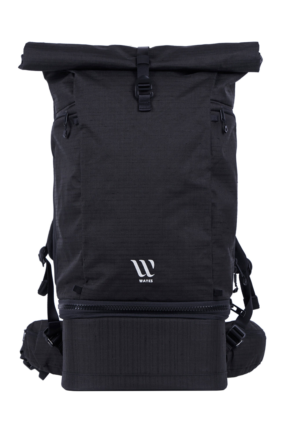 Wayks Travel Backpack Black Back