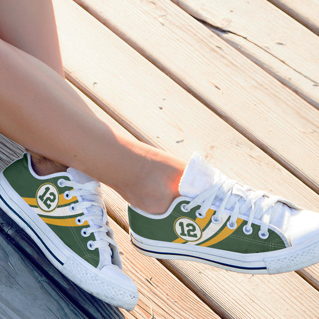 Green Bay Low Top Canvas Shoes