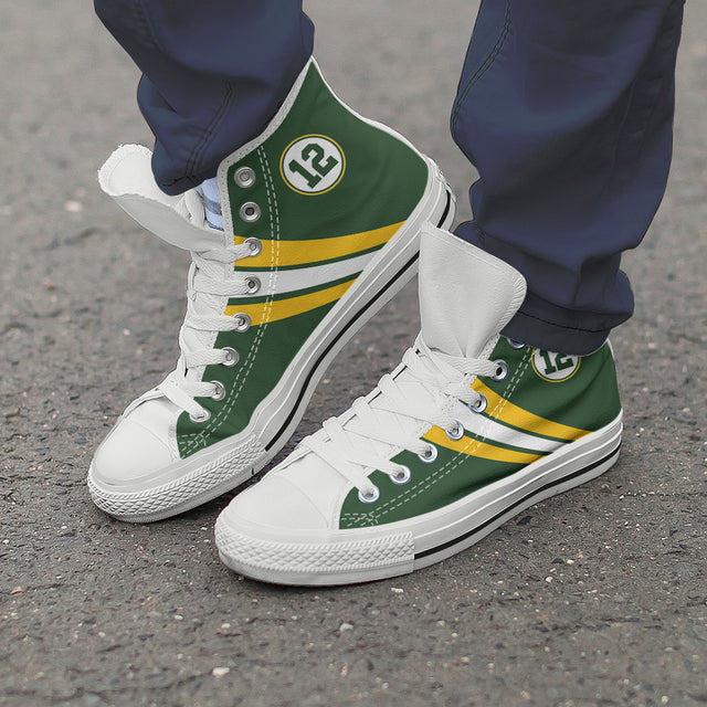 Green Bay High Top Canvas Shoes