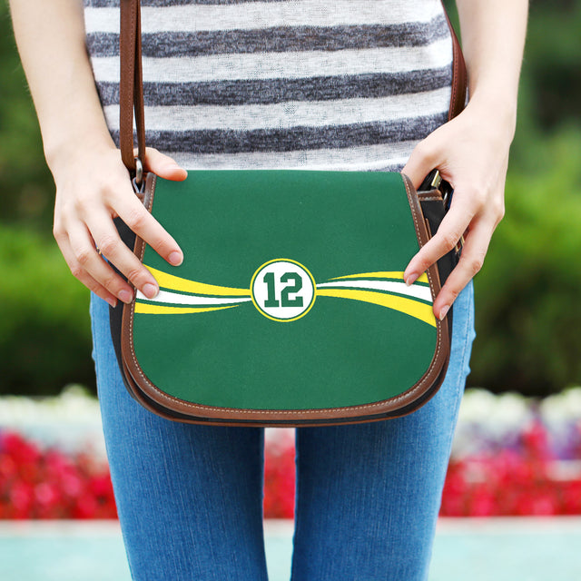 Green Bay Leather Saddle Bag
