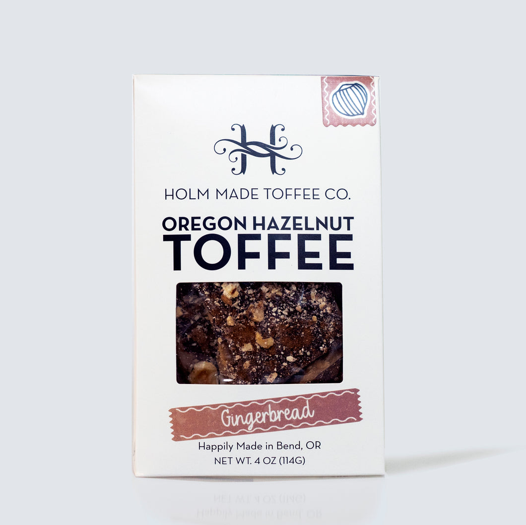 Holm Made Toffee Co. - Oregon Hazelnut Toffee - Gingerbread