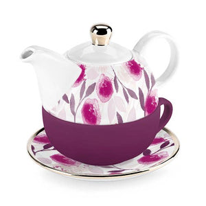 Pinky Up - Addison Berry Floral Tea for One Set