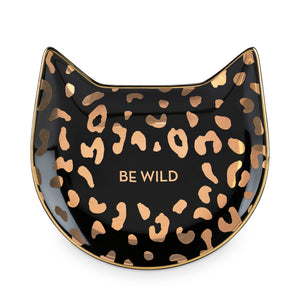 Black Leopard Tea Tray by Pinky Up