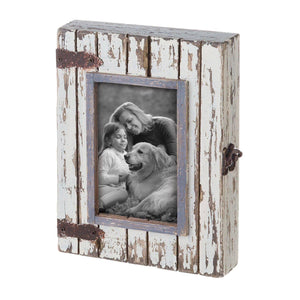"4x6"" Decorative Distressed Wood Shadow Box Picture Frame"