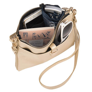 Metallic Gold Crossbody Bag