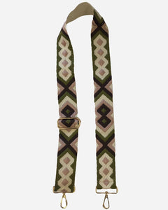 AHDORNED - Embroidered Brown/Blush Aztec Strap
