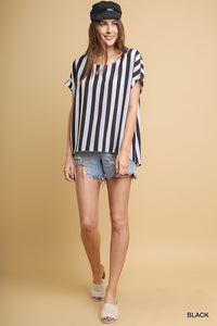 Striped Short Sleeve Top