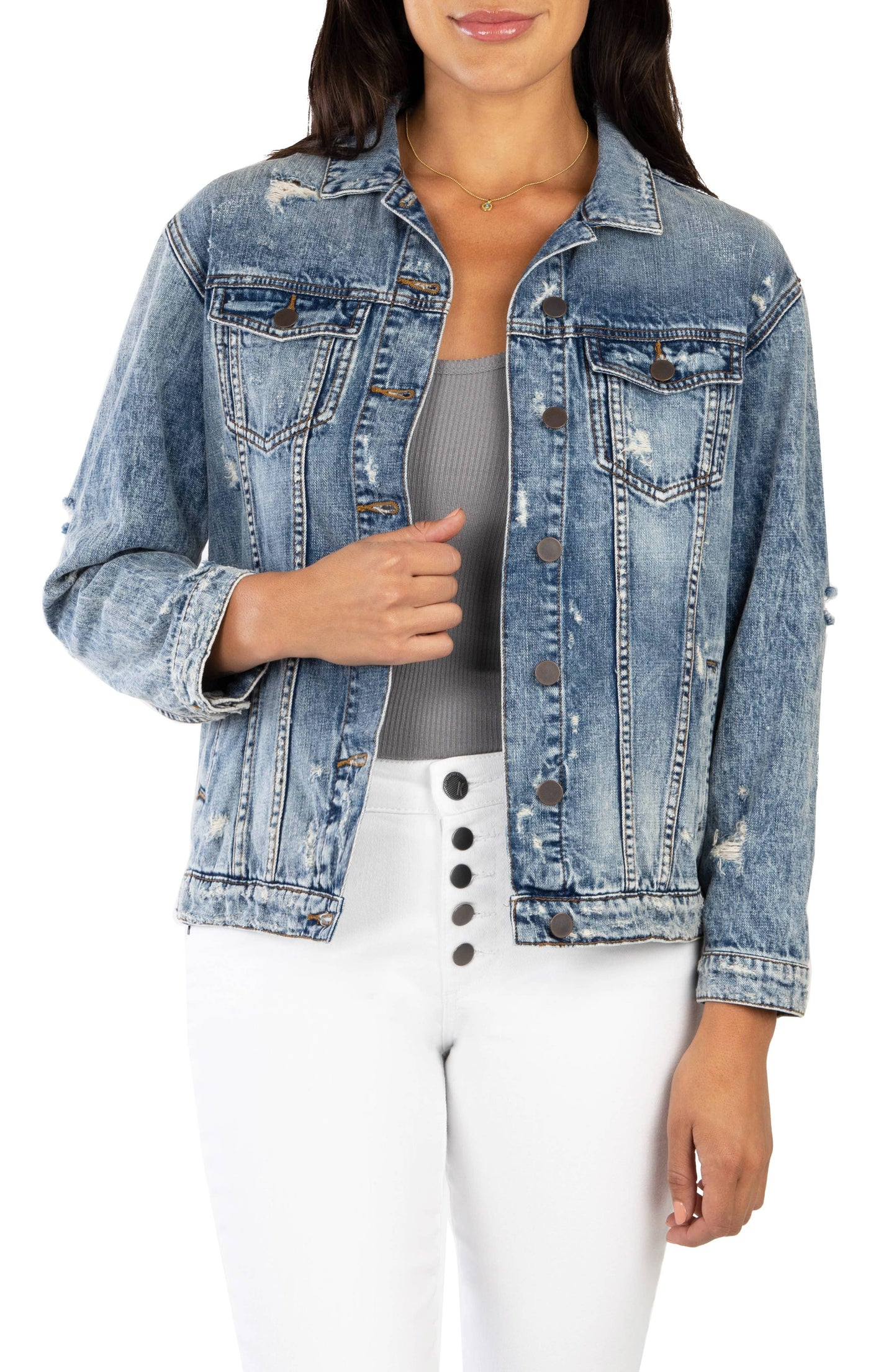 Kut from the Kloth - Emma Boyfriend Jacket with Drop Shoulder