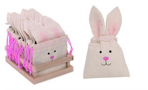 Fabric Mini Easter Bunny Treat Sack