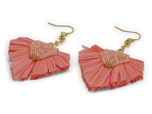 Coral Statement Earrings - Erimish