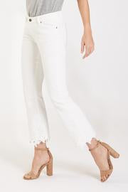 ZOEY CROPPED FLARE WHITE - Dear John Denim