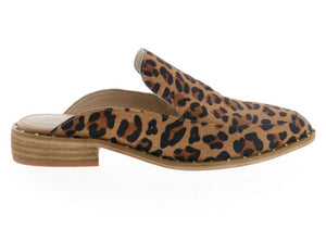 Very Volatile Atwood Calf Hair Slip On Mule in Tan Leopard