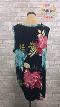 Sleeveless Navy Floral Top