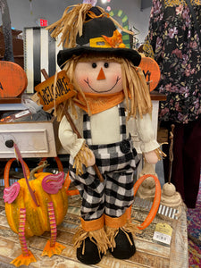 Plush Buffalo Check Standing Scarecrow