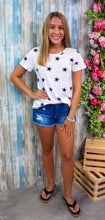 IVORY CASUAL STAR PRINT TOP