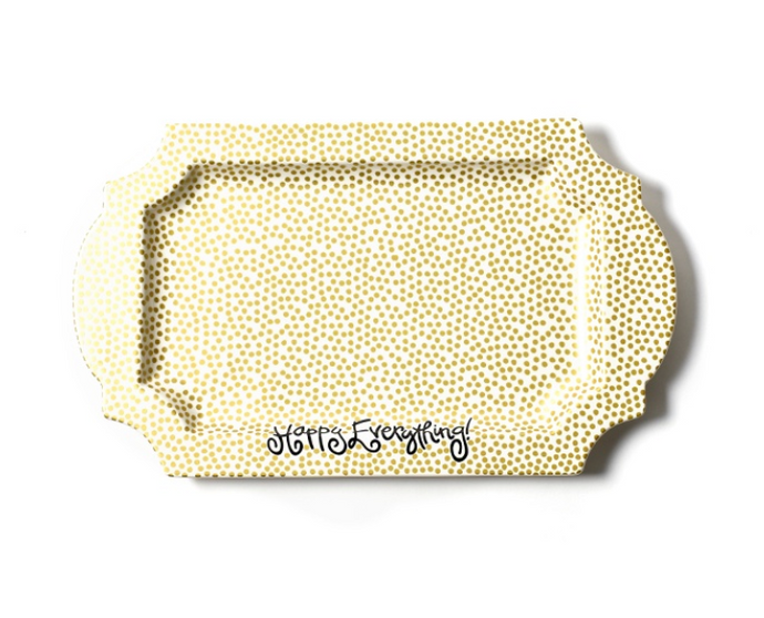 Gold Small Dot Traditional Tray - Happy Everything
