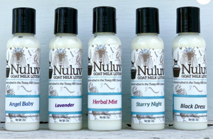 Goat Milk Travel Lotions - Nuluv