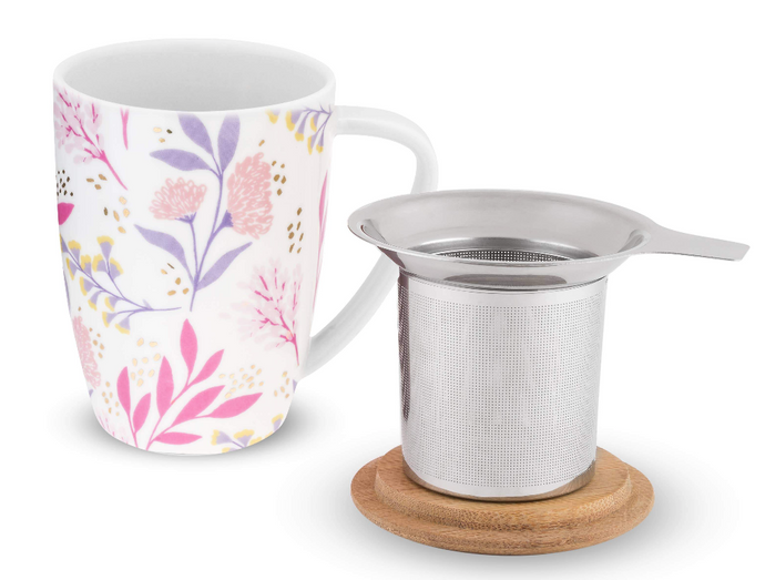 Ceramic Tea Mug & Infuser - Pinky Up