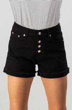 DENIM FOLDED RAW HEM SHORTS