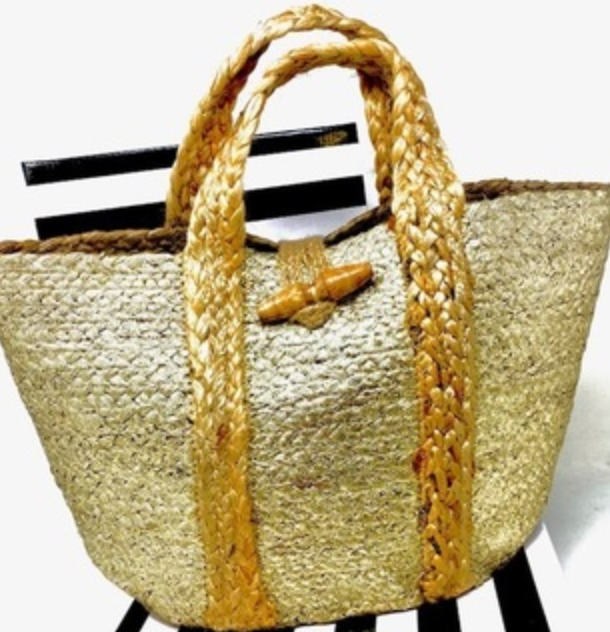 Cici Gold Tote Bag
