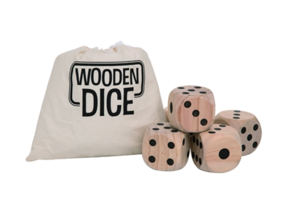 Wood Outdoor Dice Set