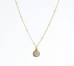 Trinket Stone Necklace - Gold & Silver